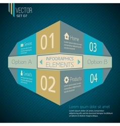 Original Infographic design template vector image