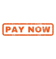Pay Now Rubber Stamp vector image