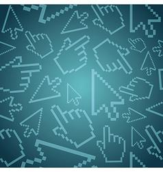 Pixel cursor pattern background vector image