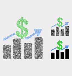 Pixel dollar trends icons vector