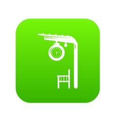 platform railway icon green vector image