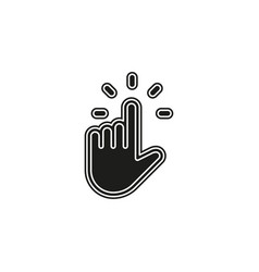 pointer finger icon - hand cursor vector image