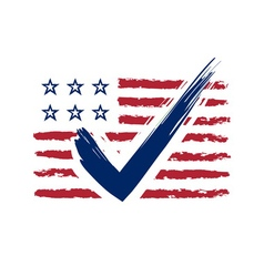 presidential election usa sign vector image