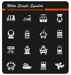 Public transport icon set vector