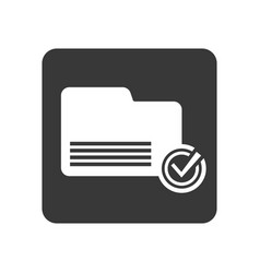 quality control icon with folder sign vector image