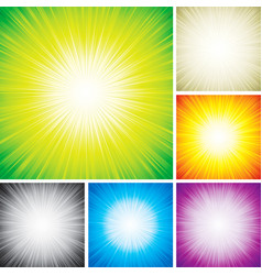 Radial rays vector