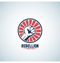 Rebellion fist symbol abstract emblem vector