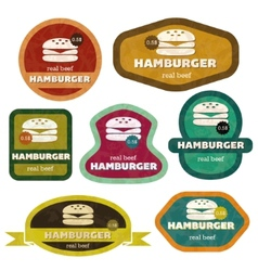 retro hamburgers vector image