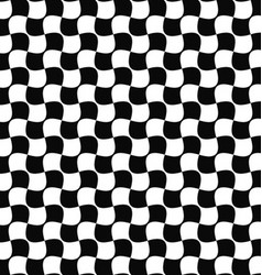 Seamless black and white curved shape pattern vector image
