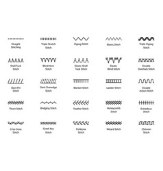 Sewing machine stitches embroidery seams seamless vector
