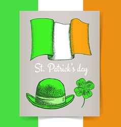 Sketch Irish poster vector