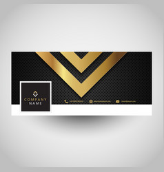 Social media cover with metallic design vector