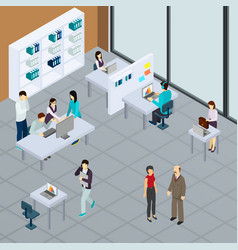 Staff at office isometric vector