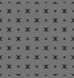 star and polka dot geometric seamless pattern 21 vector image
