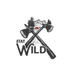 Stay wild 3 vector