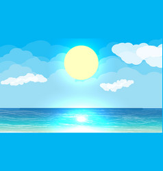 Sun with reflection in water vector