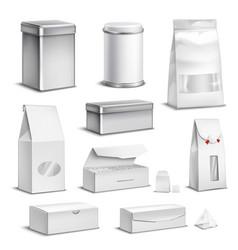 Tea packaging set vector