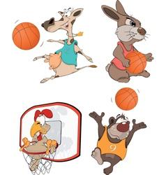 The basketball players Clip Art Cartoon vector image