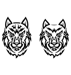 Tribal wolf tattoo vector image