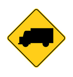 usa traffic road signtruck ahead or crossing vector image