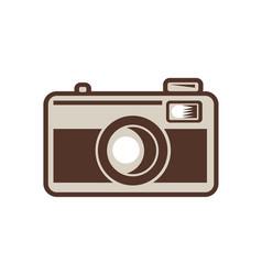 Vintage 35mm film camera retro vector