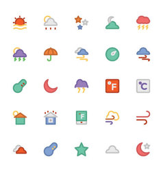 Weather icons 5 vector