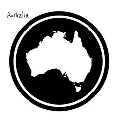 White map of australia on black vector
