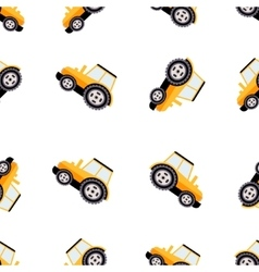Work Trucks Seamless Pattern Flat vector image