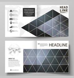 Business templates for square design bi fold vector