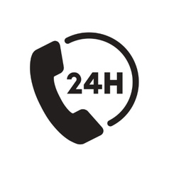 Flat icon in black and white phone vector
