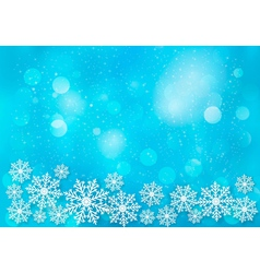 Holiday blue background with snowflakes vector image