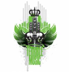 music wings vector image vector image