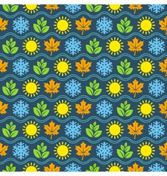 Seamless wallpaper pattern with seasons icons vector image