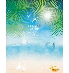 Seascape backgrounds vector image