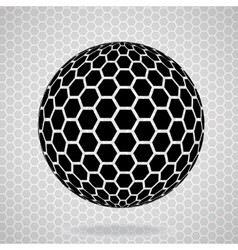 Abstract globe from hexagons vector image vector image