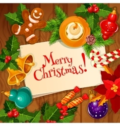 Christmas day and new year greeting card design vector