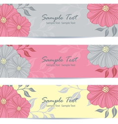 Floral banner vector image