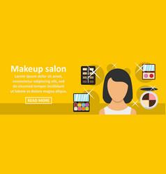 makeup salon banner horizontal concept vector image vector image