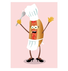 miss hot dog vector image