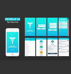 mobile app doctor consultation online material vector image