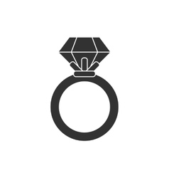 Ring black and white colors vector image vector image