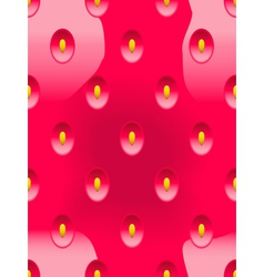 Abstract seamless background strawberry vector image vector image