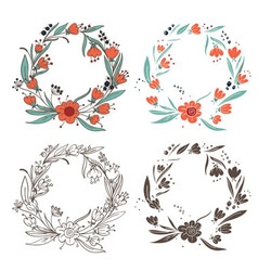 Elements floral vector