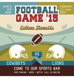 Football game college playoffs vector image vector image