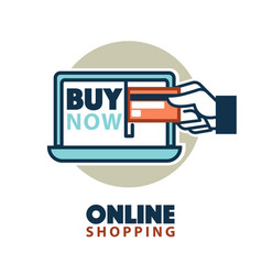 online shopping web icon template computer vector image