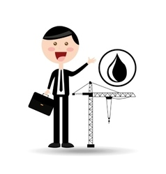 businessman oil concept oil drilling vector image vector image