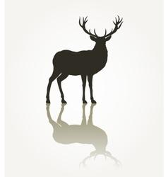 Deer animal silhouette vector