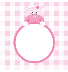 hippo frame vector image vector image