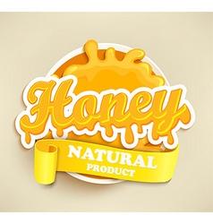 Honey natural label splash vector image