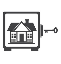 house in safe house protection vector image vector image
